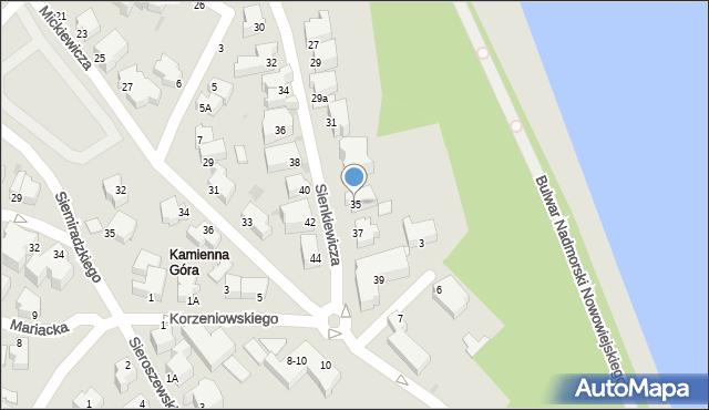 Gdynia, Sienkiewicza Henryka, 35, mapa Gdyni