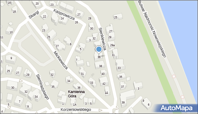 Gdynia, Sienkiewicza Henryka, 36, mapa Gdyni