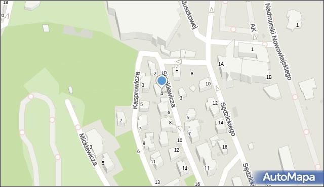 Gdynia, Sienkiewicza Henryka, 4, mapa Gdyni
