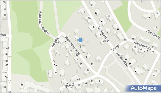 Gdynia, Siemiradzkiego Henryka, 5, mapa Gdyni