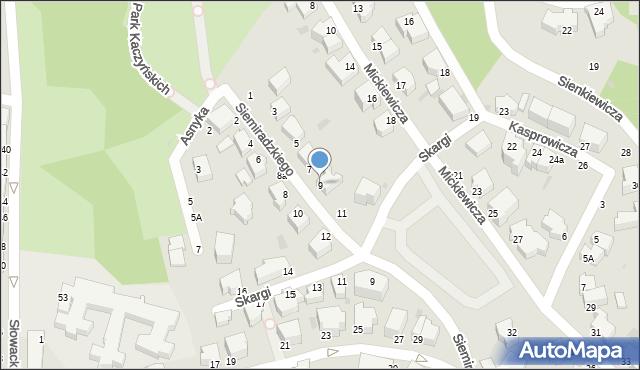 Gdynia, Siemiradzkiego Henryka, 9, mapa Gdyni