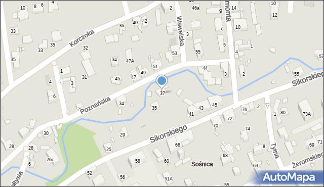 Gliwice, Sikorskiego Władysława, gen., 37, mapa Gliwic