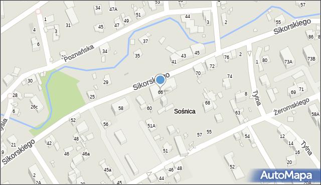 Gliwice, Sikorskiego Władysława, gen., 66, mapa Gliwic