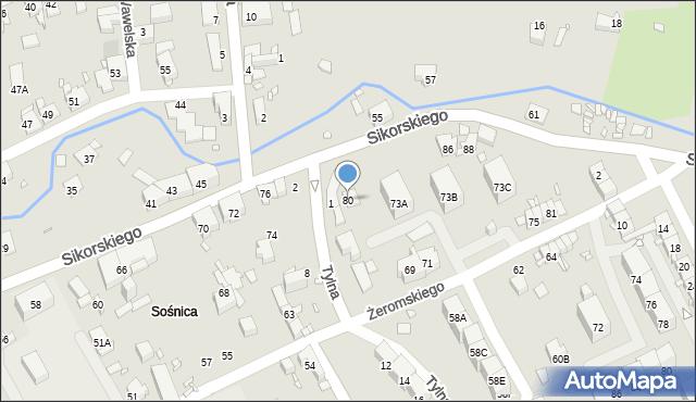 Gliwice, Sikorskiego Władysława, gen., 80, mapa Gliwic