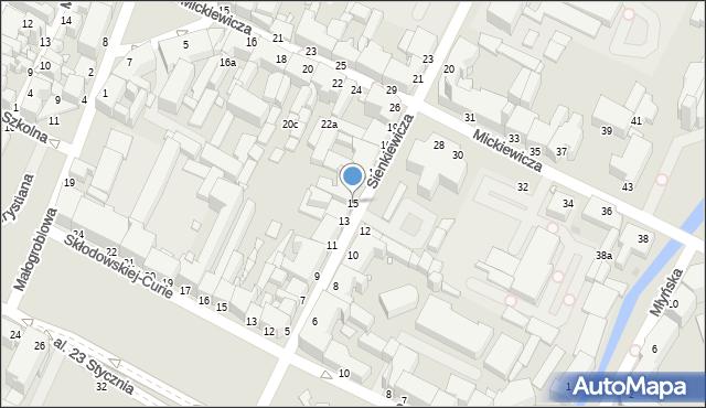 Grudziądz, Sienkiewicza Henryka, 15, mapa Grudziądza