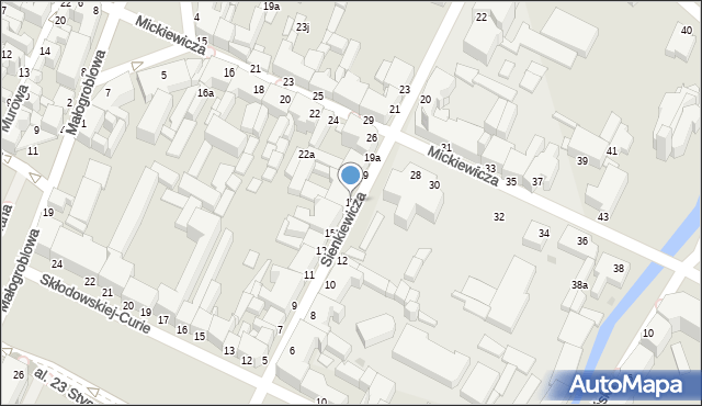 Grudziądz, Sienkiewicza Henryka, 17, mapa Grudziądza