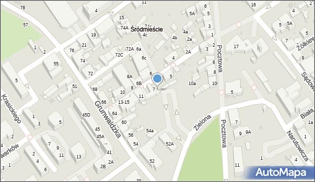 Jaworzno, Sienkiewicza Henryka, 7d, mapa Jaworzno