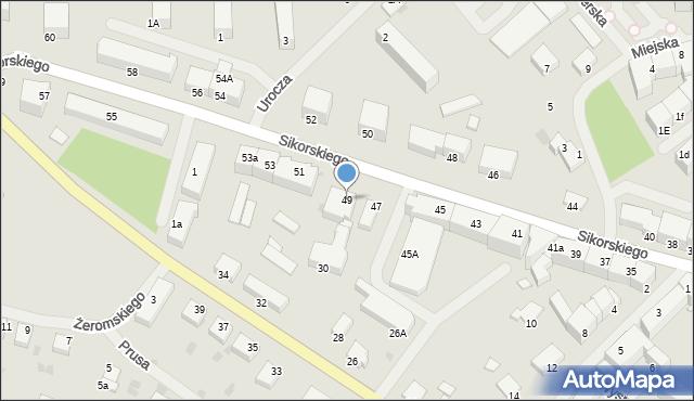 Kętrzyn, Sikorskiego Władysława, gen., 49, mapa Kętrzyn