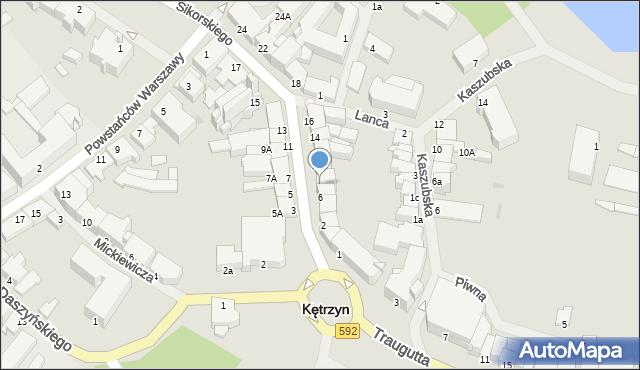 Kętrzyn, Sikorskiego Władysława, gen., 8, mapa Kętrzyn