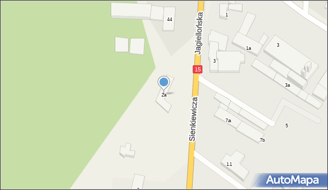 Kurzętnik, Sienkiewicza Henryka, 2a, mapa Kurzętnik