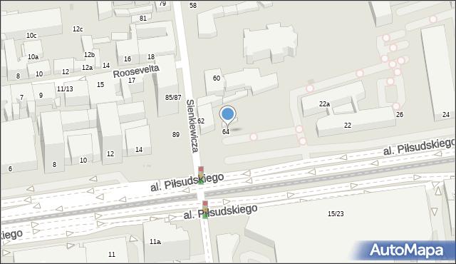 Łódź, Sienkiewicza Henryka, 64, mapa Łodzi