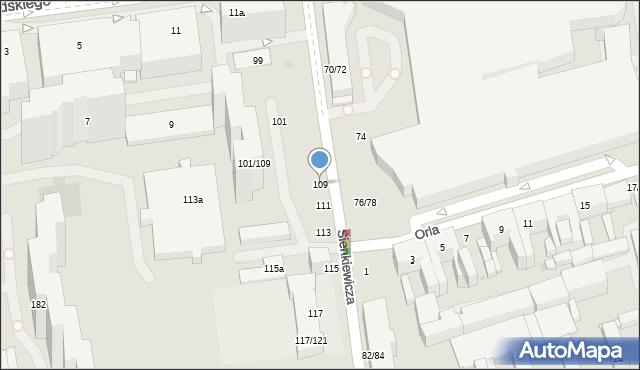 Łódź, Sienkiewicza Henryka, 109, mapa Łodzi