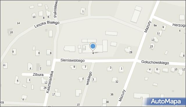 Lubaczów, Sieniawskiego A. M., hetm., 4, mapa Lubaczów