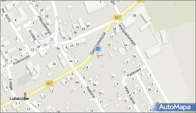 Lubaczów, Sienkiewicza Henryka, 11, mapa Lubaczów