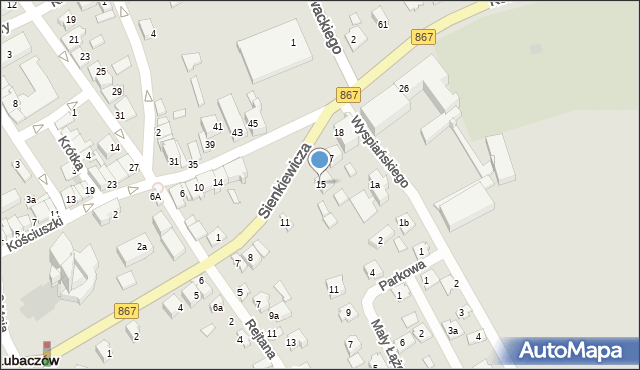 Lubaczów, Sienkiewicza Henryka, 15, mapa Lubaczów