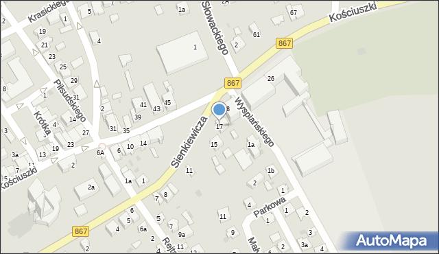 Lubaczów, Sienkiewicza Henryka, 17, mapa Lubaczów