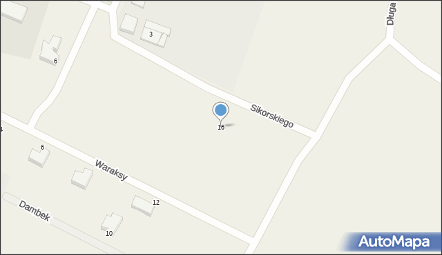 Luzino, Sikorskiego Władysława, gen., 16, mapa Luzino