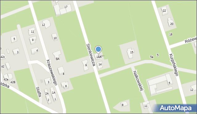 Marki, Sienkiewicza Henryka, 14A, mapa Marki