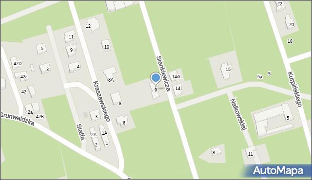 Marki, Sienkiewicza Henryka, 9, mapa Marki