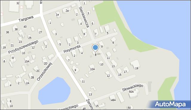 Olecko, Sienkiewicza Henryka, 8, mapa Olecko