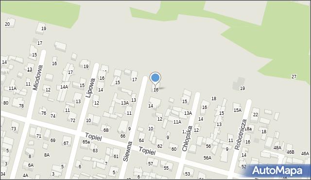 Radom, Siewna, 16, mapa Radomia