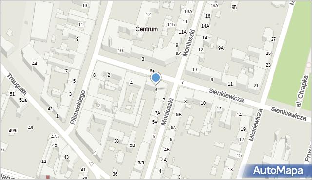 Radom, Sienkiewicza Henryka, 6, mapa Radomia