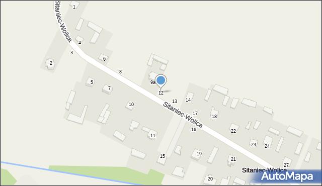 Sitaniec-Wolica, Sitaniec-Wolica, 12, mapa Sitaniec-Wolica