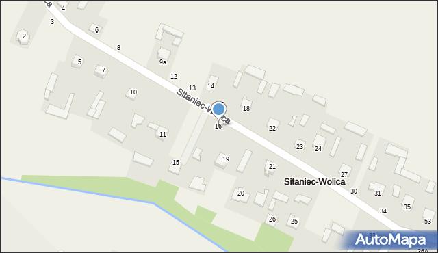 Sitaniec-Wolica, Sitaniec-Wolica, 16, mapa Sitaniec-Wolica
