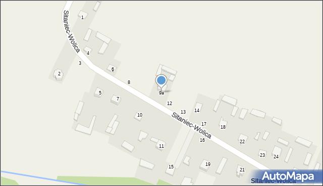 Sitaniec-Wolica, Sitaniec-Wolica, 9a, mapa Sitaniec-Wolica