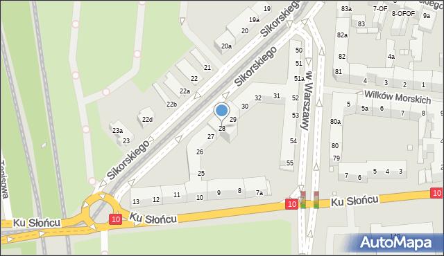 Szczecin, Sikorskiego Władysława, gen., 28, mapa Szczecina
