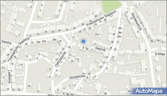 Tarnowskie Góry, Sienna, 6, mapa Tarnowskie Góry
