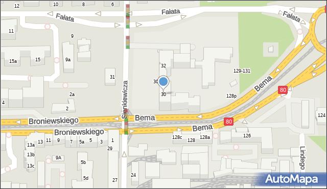 Toruń, Sienkiewicza Henryka, 30, mapa Torunia