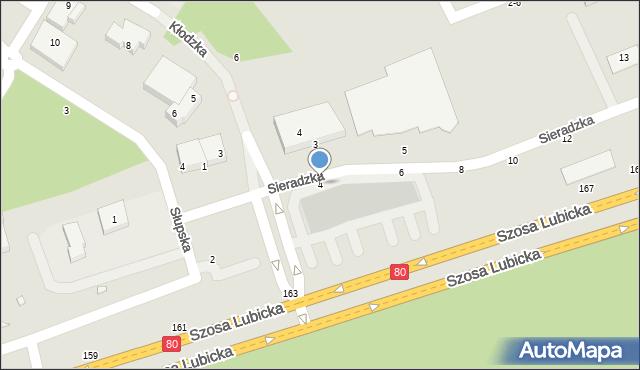 Toruń, Sieradzka, 4, mapa Torunia