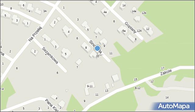 Toruń, Sindbada, 10, mapa Torunia