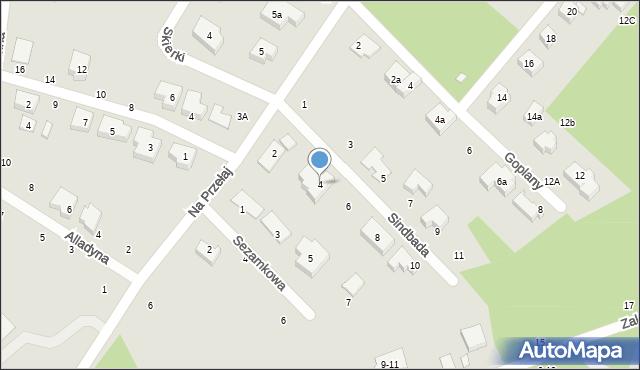 Toruń, Sindbada, 4, mapa Torunia