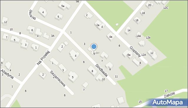 Toruń, Sindbada, 5, mapa Torunia