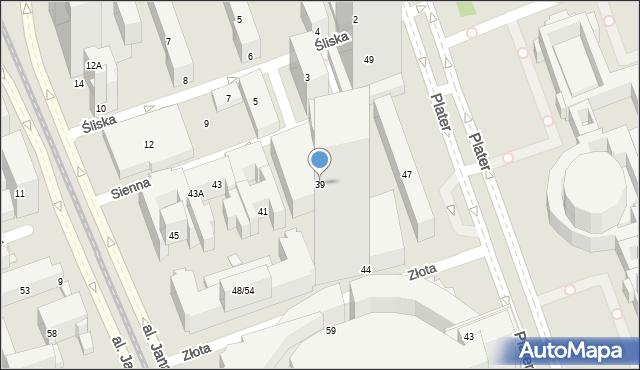 Warszawa, Sienna, 39, mapa Warszawy