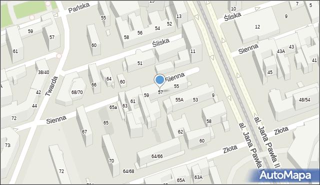 Warszawa, Sienna, 57, mapa Warszawy