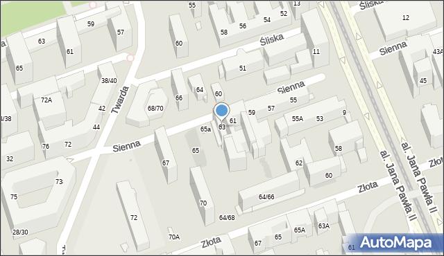 Warszawa, Sienna, 63, mapa Warszawy