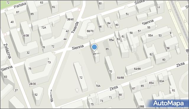 Warszawa, Sienna, 67, mapa Warszawy