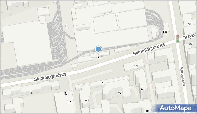 Warszawa, Siedmiogrodzka, 4, mapa Warszawy