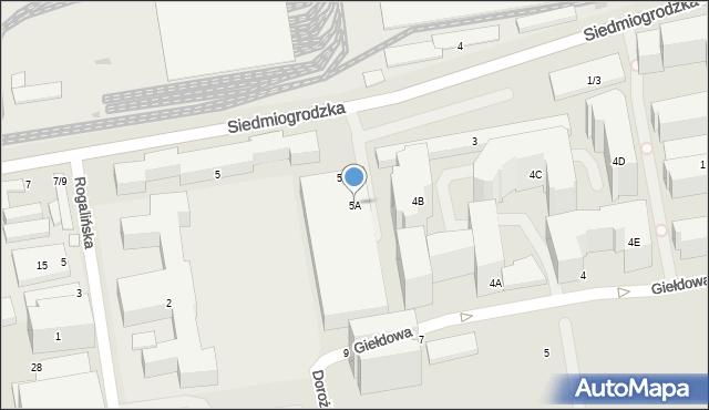 Warszawa, Siedmiogrodzka, 5A, mapa Warszawy