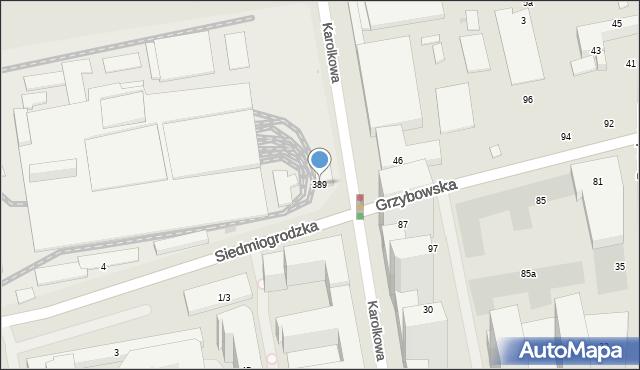 Warszawa, Siedmiogrodzka, 389, mapa Warszawy