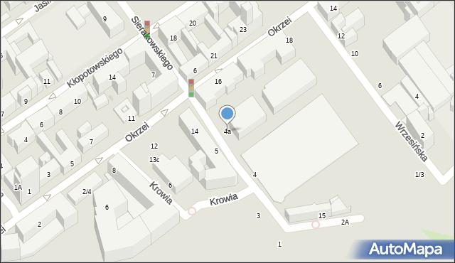 Warszawa, Sierakowskiego Józefa, 4a, mapa Warszawy