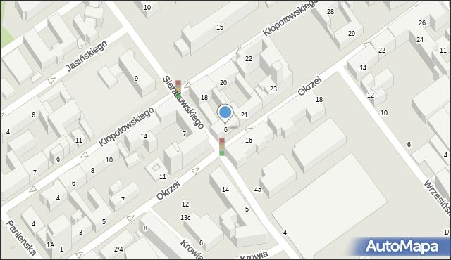 Warszawa, Sierakowskiego Józefa, 6, mapa Warszawy