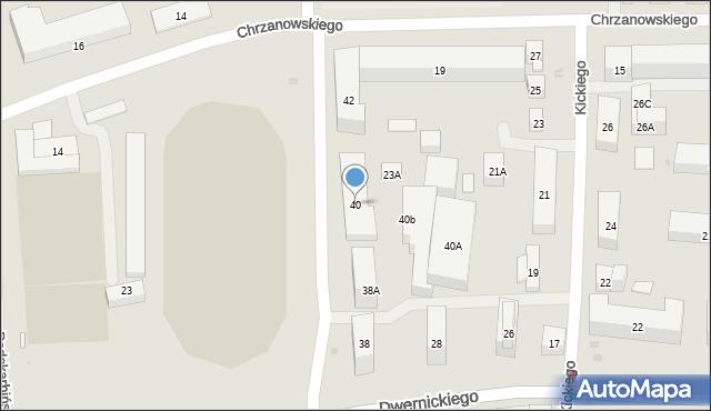 Warszawa, Siennicka, 40, mapa Warszawy