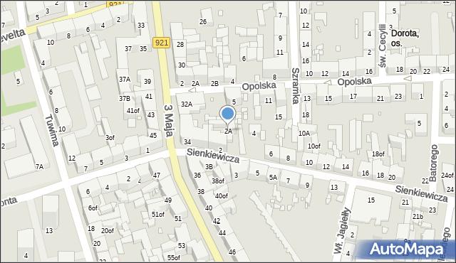 Zabrze, Sienkiewicza Henryka, 2A, mapa Zabrza