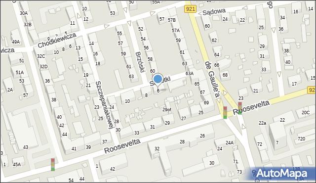 Zabrze, Sierotki, 6, mapa Zabrza