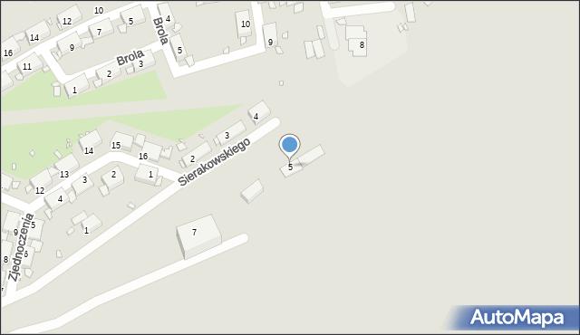 Zabrze, Sierakowskiego Józefa, 5, mapa Zabrza