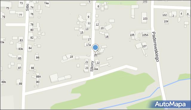 Zabrze, Sikory Jana, 20, mapa Zabrza